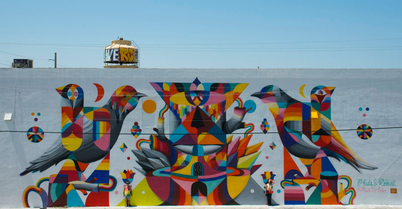 Remed x Okuda in Miami. Via Graffart.