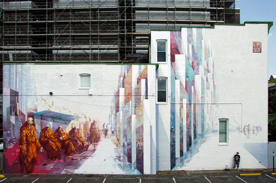 Sepe and Chazme for the Richmond Mural Project. Via Graffuturism.