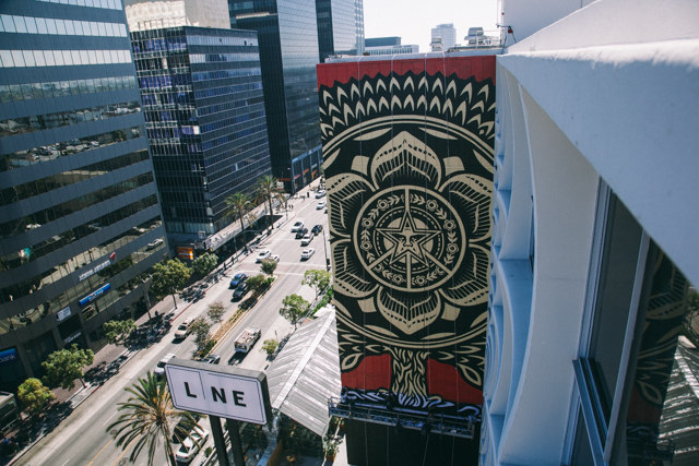 The Line Hotel Los Angeles streets: shepard fairey for the line hotel (los angeles
