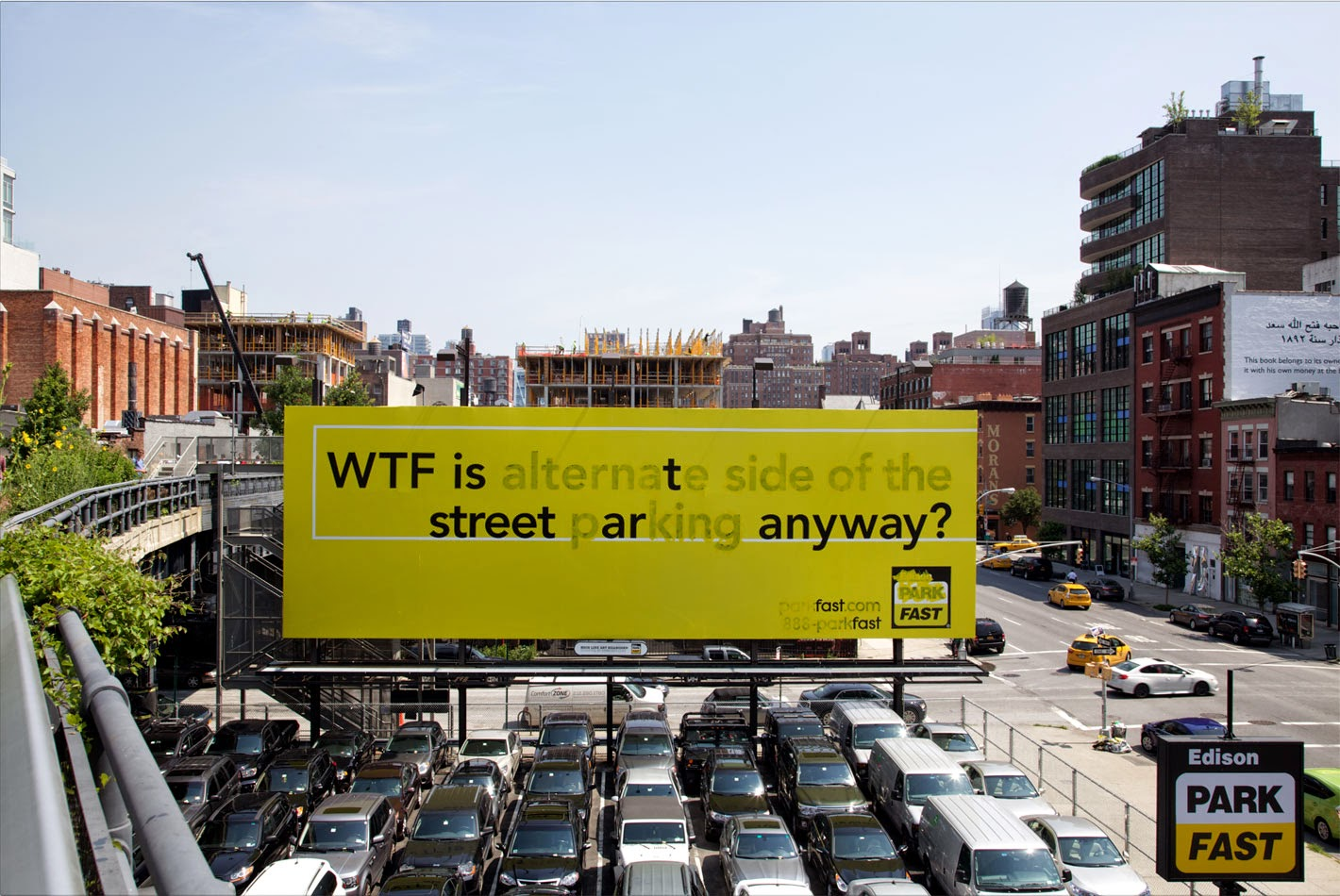 PosterBoy near the High Line in NYC. Photo via Public Ad Campaign.