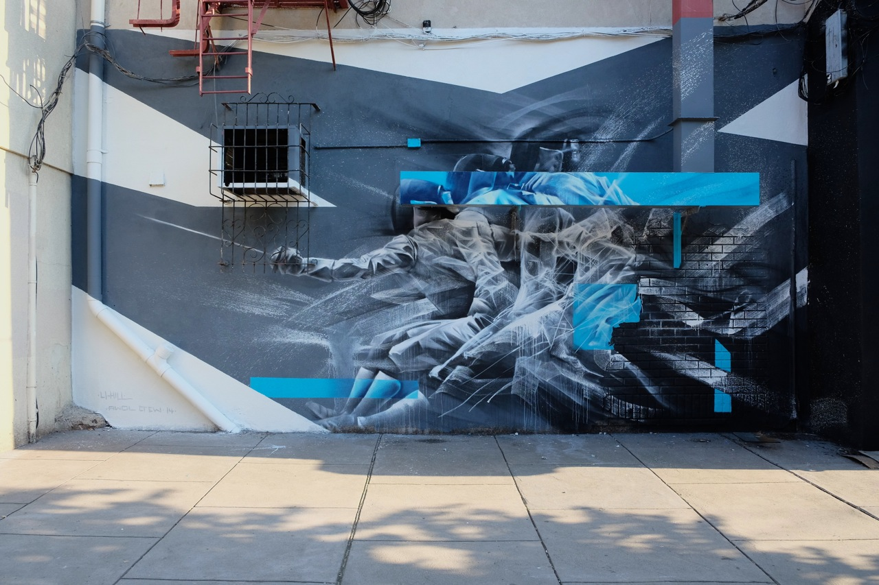 Aaron Li-Hill in New Jersey for Savage Habit Murals Project.
