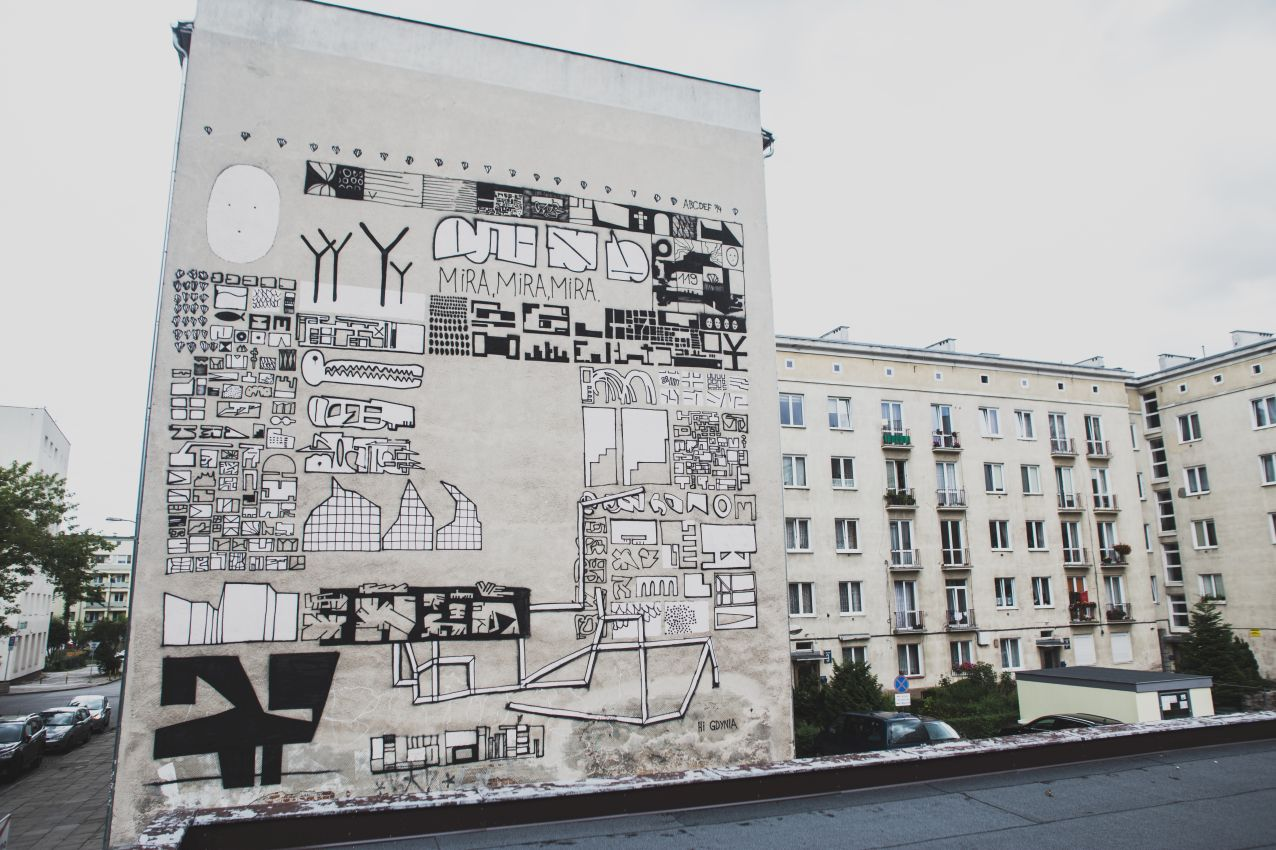 ABCDEF for the Traffic Design Festival in Gdynia, Poland. Photo by  Alka Murat / Graffuturism.