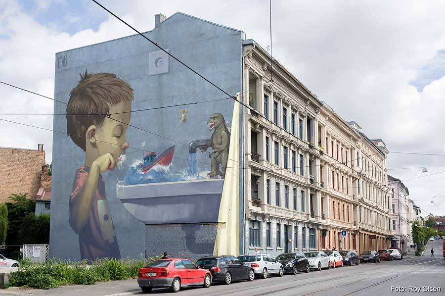 Etam Cru for the the Oslo Triennial of Mural Art in Norway. Photo via Savage Habit.