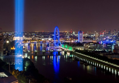 Ryoji Ikedaís spectra shoots up into the London sky