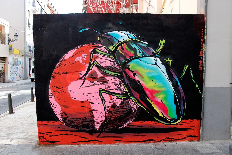 "Deih - ""Keep It Rotating"" in Valencia, Spain. Via StreetArtNews."