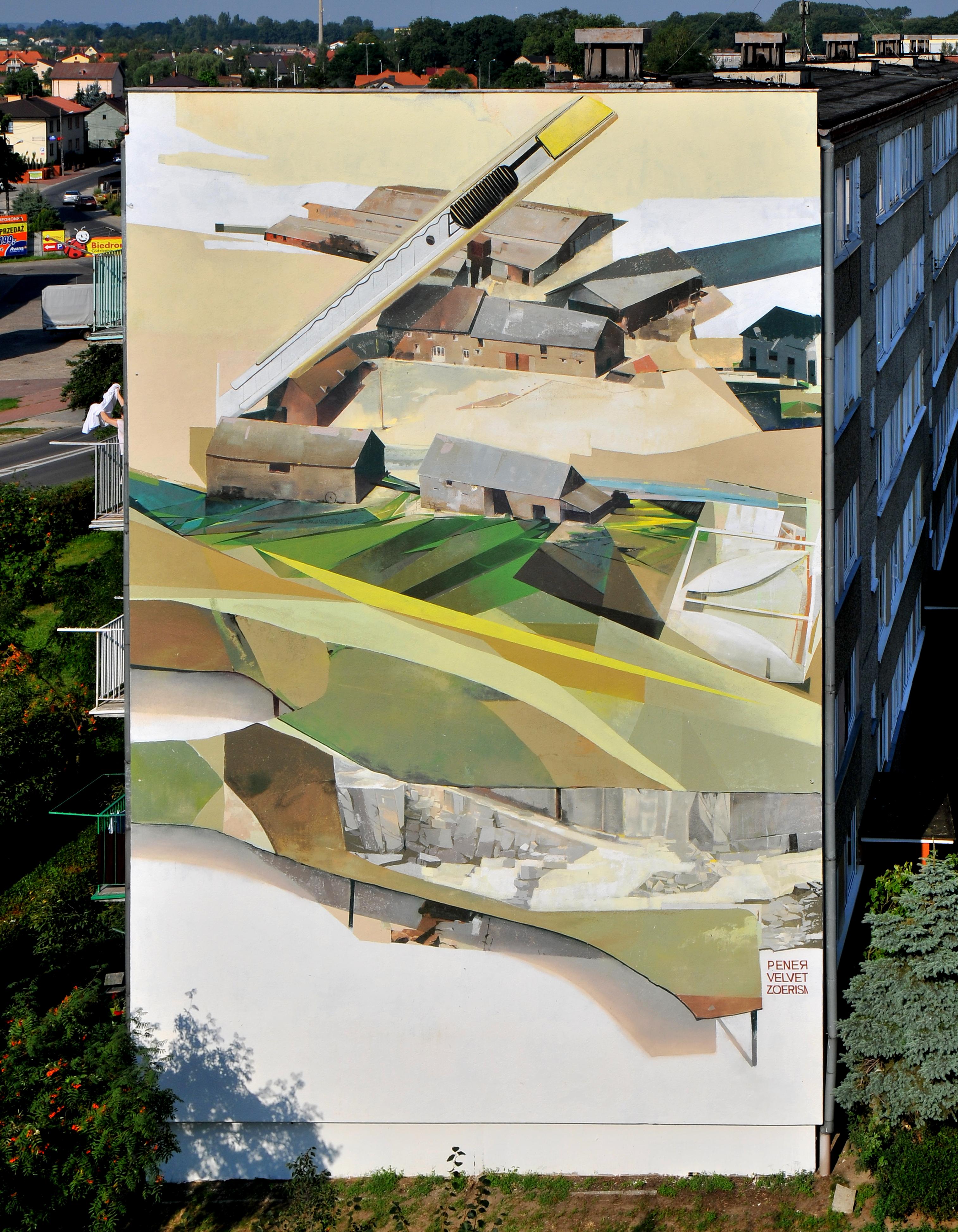 """Pener Velvet, and Zoer - """"Vertical Farming"""" in Turek, Poland. Via Graffuturism."""