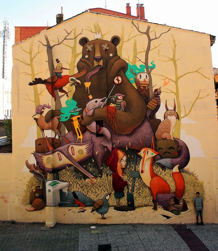 Dulk - Zaragoza, Spain for Asalto Festival  (via StreetArtNews.net)