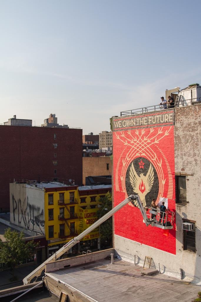 Shepard Fairey Hennessy Art Mural NYC AM 10