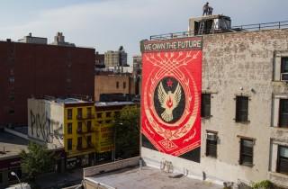 Shepard Fairey Hennessy Art Mural NYC AM 38