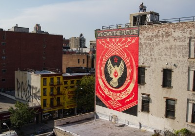 Shepard Fairey Hennessy Art Mural NYC AM 38