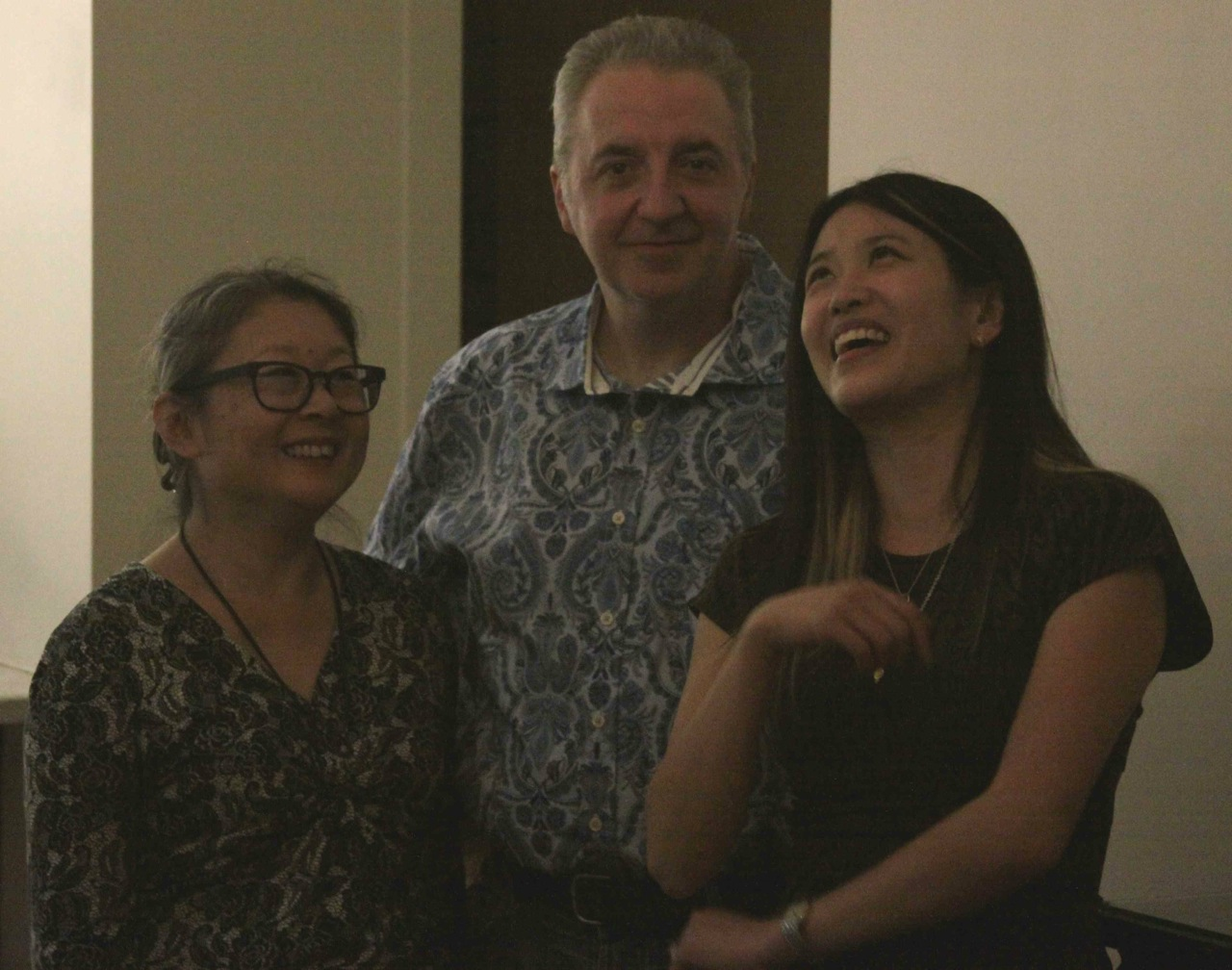 Caesar with wife Jane and Belinda Chun from Gallery House.