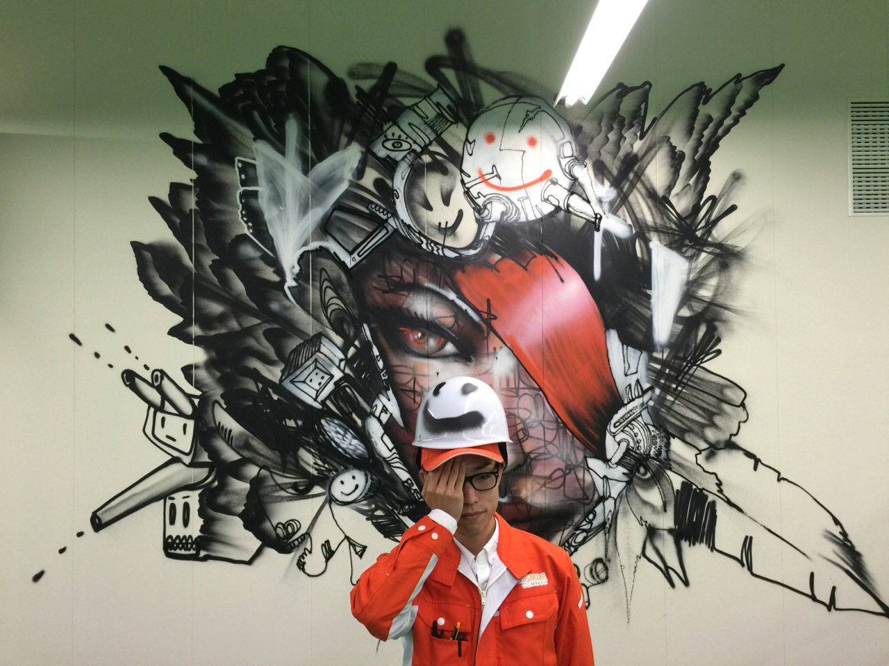 David choe mural at good smile company factory for David choe mural
