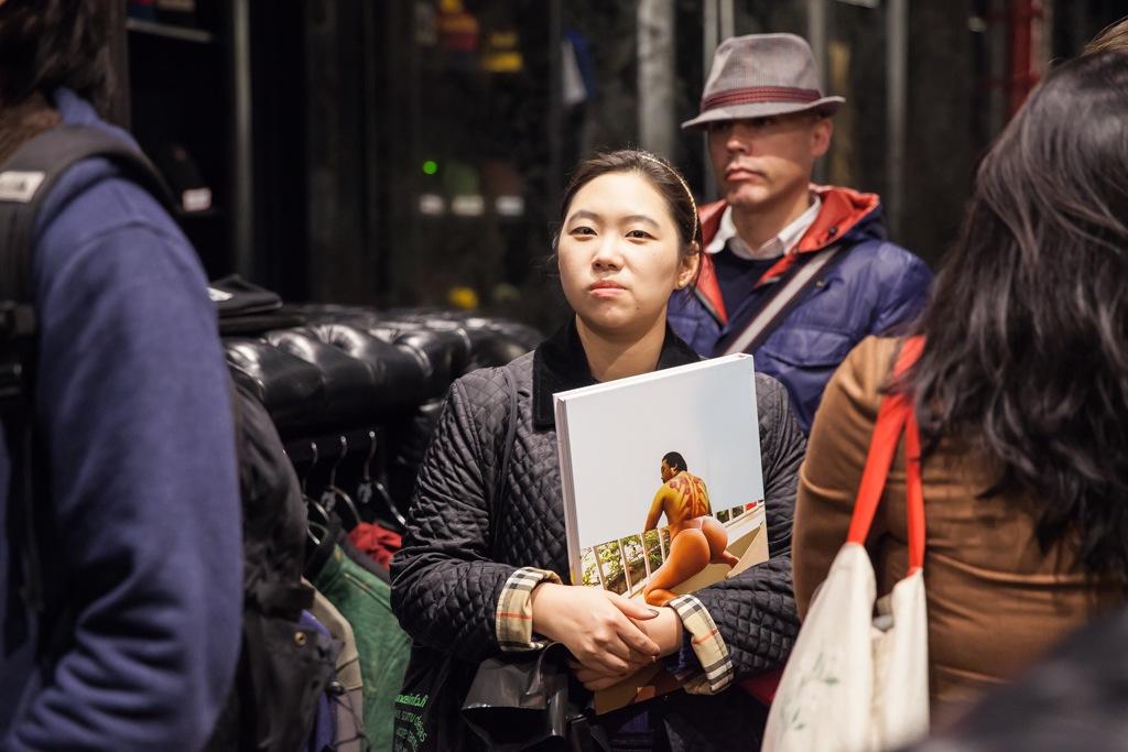 David Choe Snowman Monkey BBQ Book Signing Hundreds AM 01