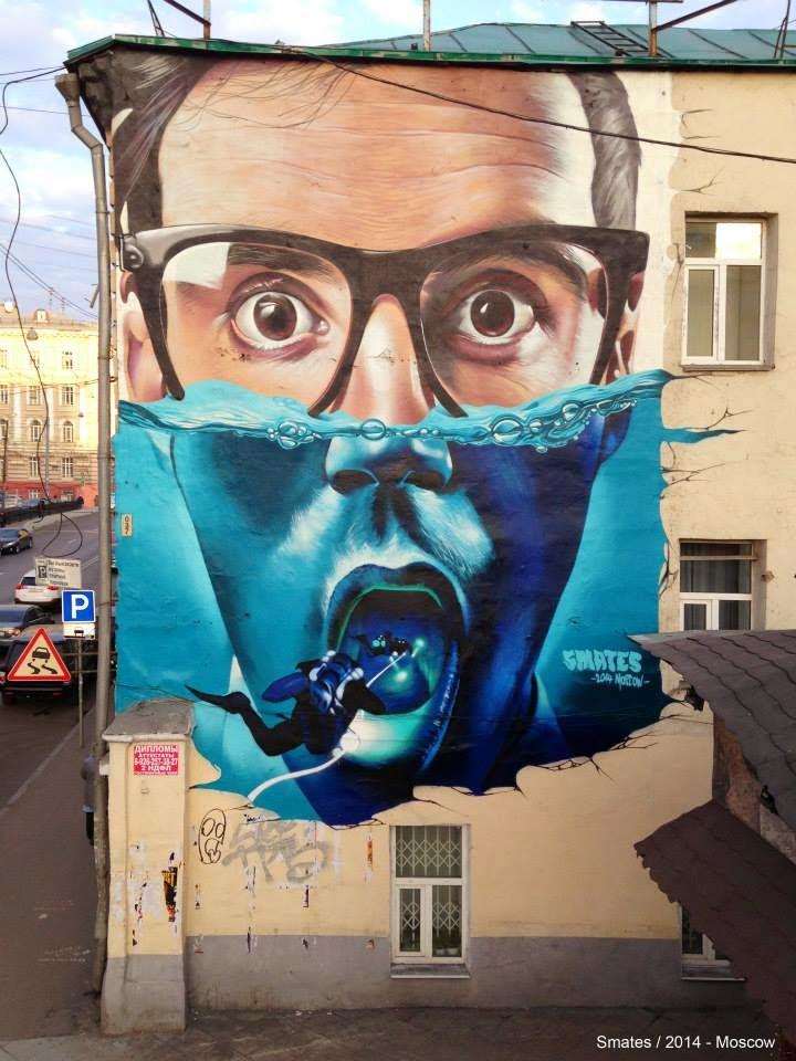 Smates in Moscow. Photo via StreetArtNews.
