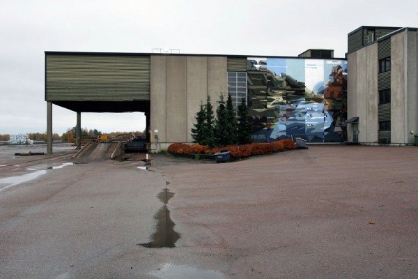 """Petro and Slak for the festival """"Objects of Nature"""" in Kotka, Finland. Via Graffart."""