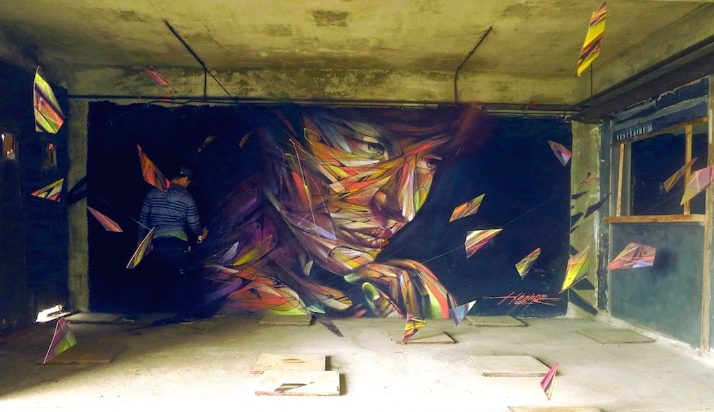 "Hopare in Paris, France - ""Music For The Eyes"". Via StreetArtNews."