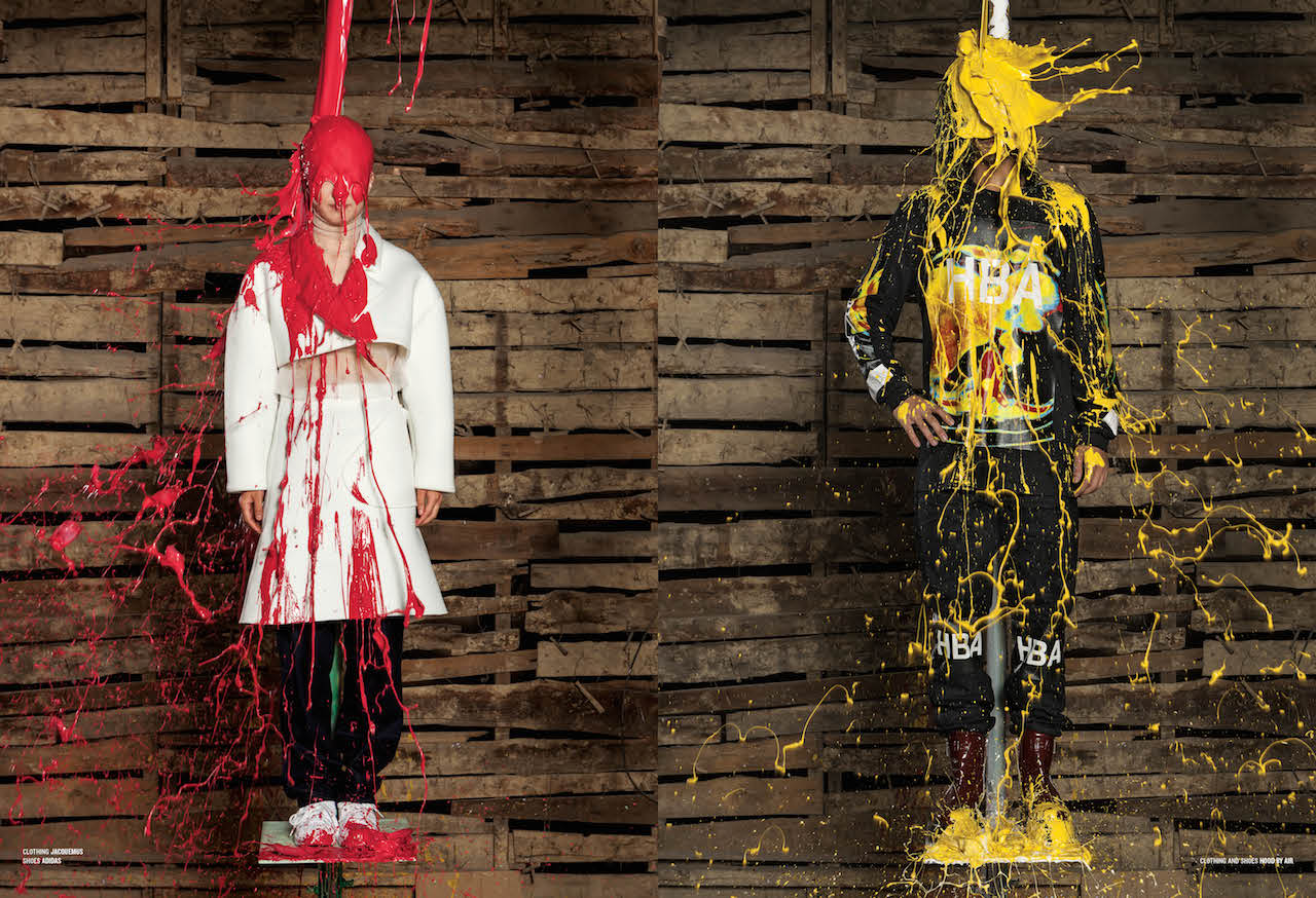 Ai Weiwei Pours Paint Over Designer Clothes For Magazine V