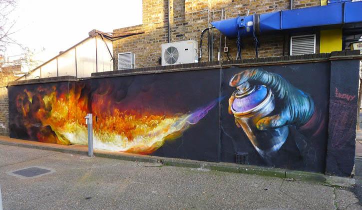 "Whoam Irony - ""Burn"" in London. Photo via Mashkulture."
