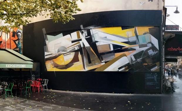 Augustine Kofie for the Le Mur Paris Project in Paris. Via Savage Habit.