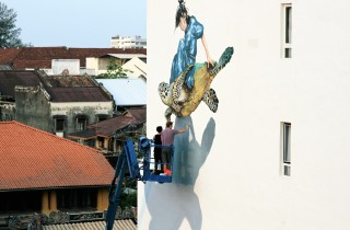 01. Ernest Zacharevic and Martin Ron Murales - wip