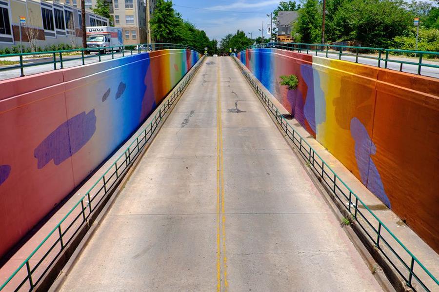 Momo in Atlanta, Georgia for Living Walls.