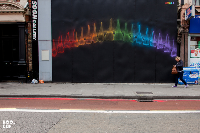 "Shok-1 - ""Biters"" in London. Photo by Hooked Blog."