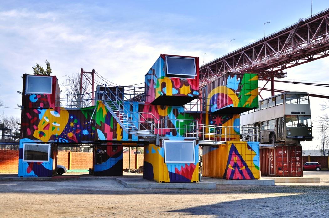 akaCorleone in Lisbon, Portugal for Village Underground & Underdogs. Via Stick2Target.