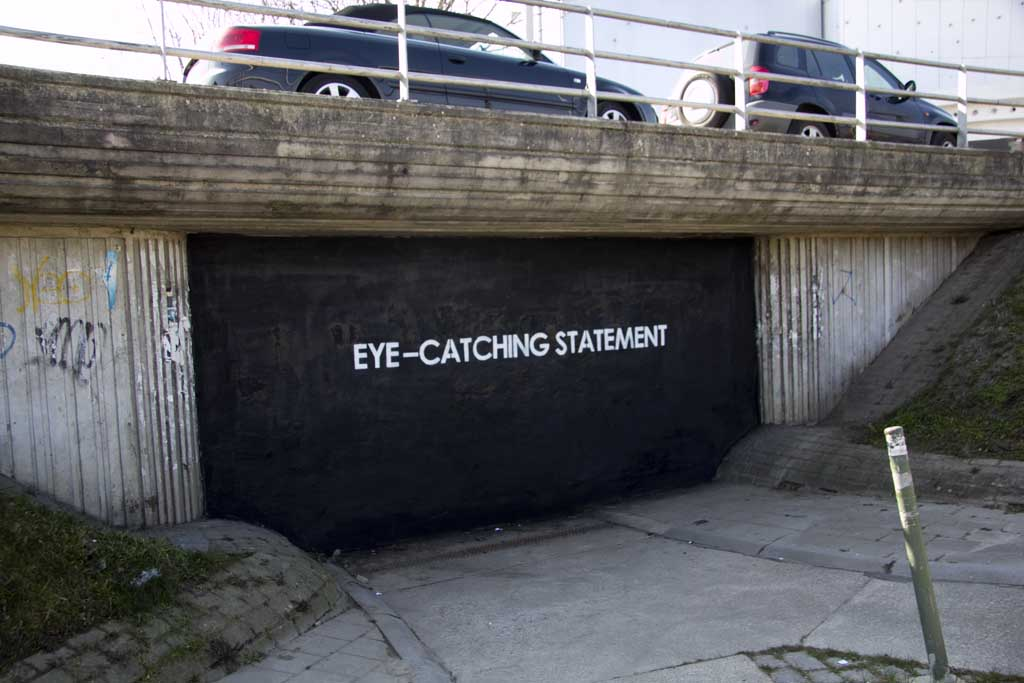 eye catching statement