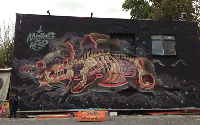 Nychos in Berlin, Germany for the Pictoplasma Festival. Via Savage Habit.