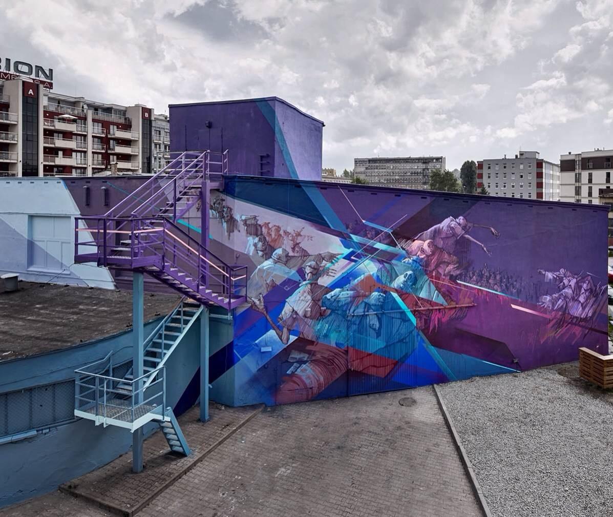 Nawer & Sepe in Krakow. Via Graffuturism.