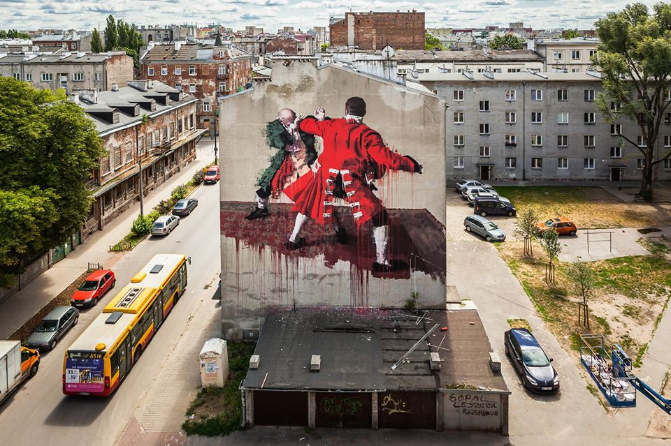 Streets conor harrington warsaw arrested motion for Mural warszawa 44