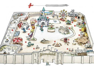 Banky DIsmaland Bemusement Park Map AM