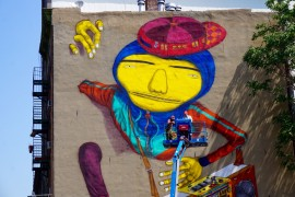 Osgemeos NYC Graffiti mural AM  - 11
