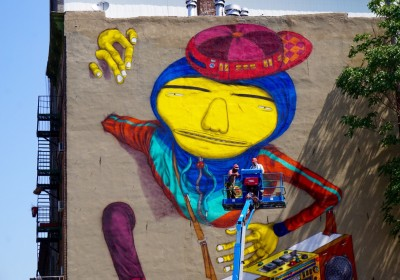 Osgemeos NYC Graffiti mural AM  - 11