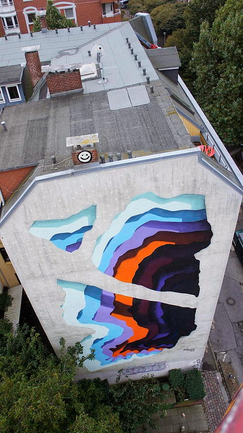 1010 for the Knotenpunkt Festival in Hamburg Germany. Via StreetArtNews.