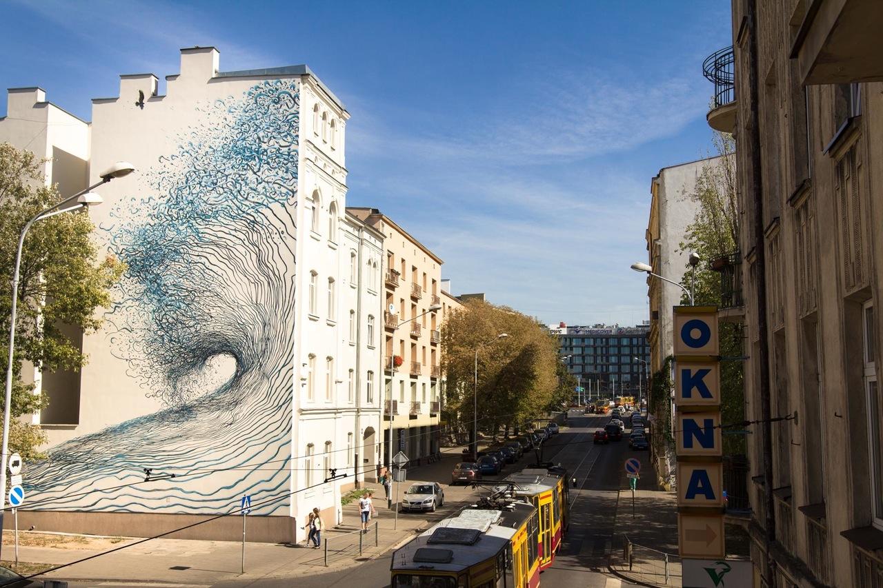 Streets: Alexis Diaz, DALeast, Borondo / Lodz Walls (Poland) « Arrested Motion