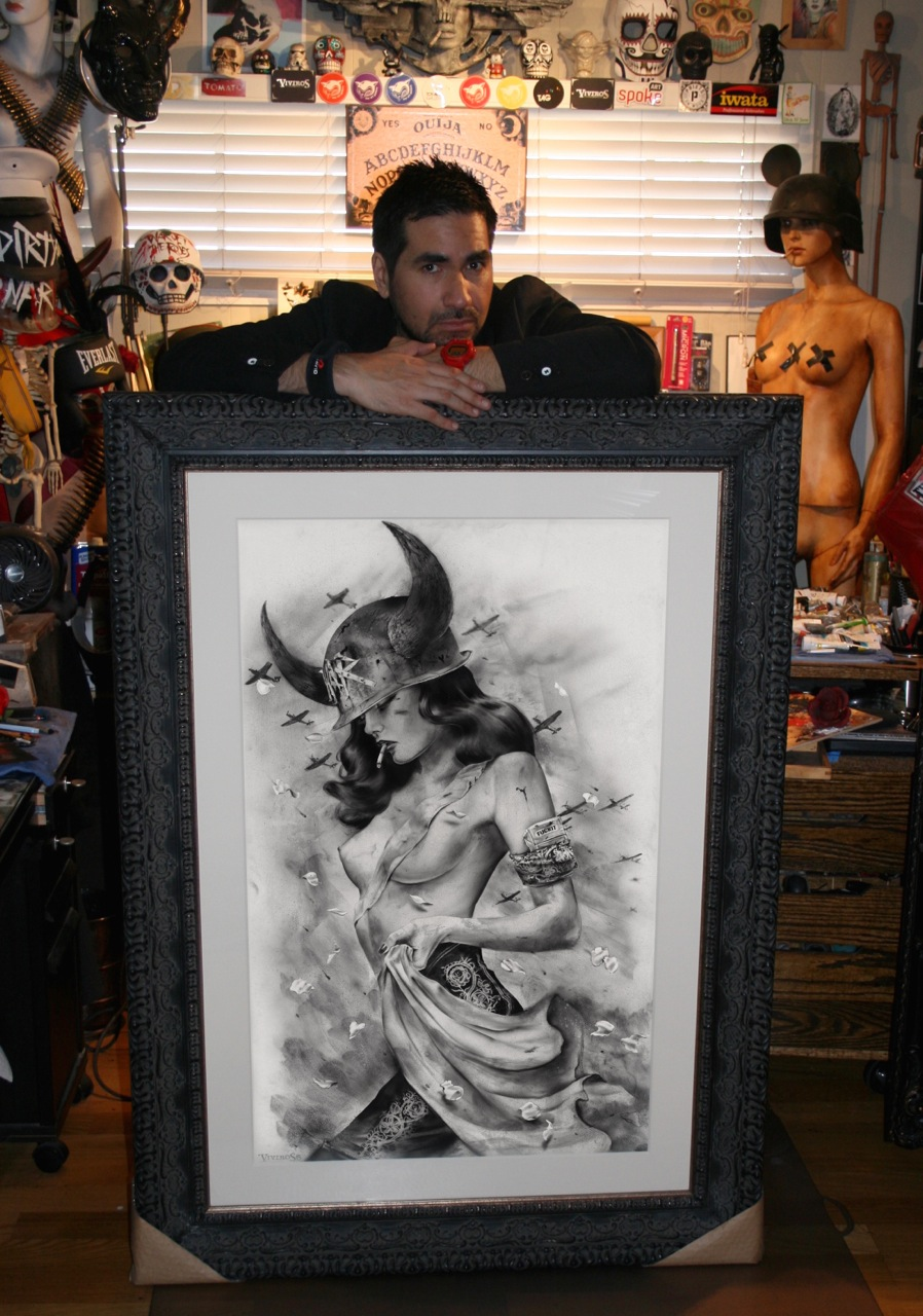 Viveros with 'BATTLEFIELD' LArgest charcoal rendering_REVISED