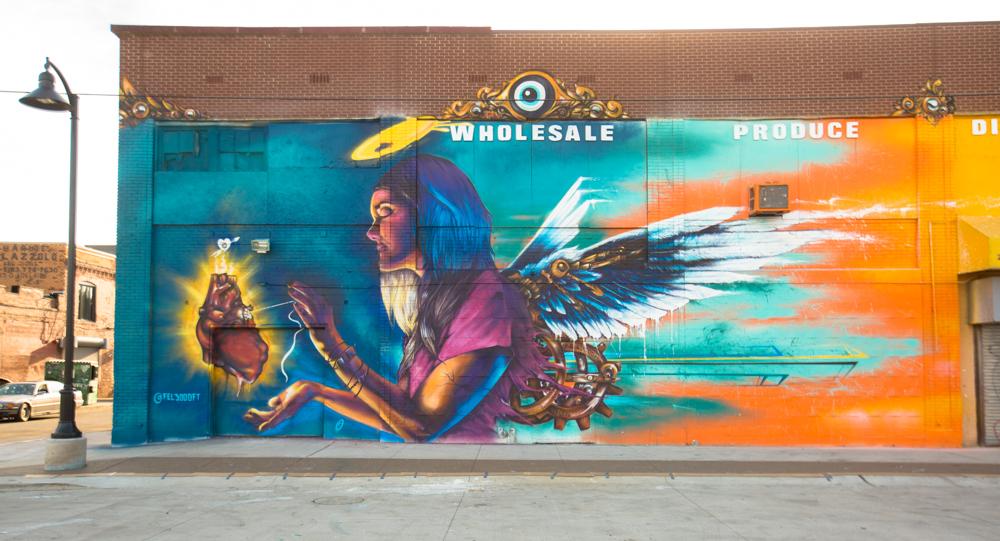 Recap murals in the market detroit arrested motion for Daft punk mural