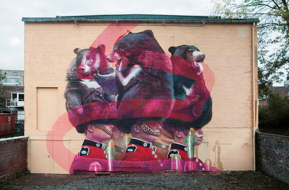 "Telmo Miel - ""Safe Space Guardians"" for Art17 / Beste Buren project in Deinze, Belgium."