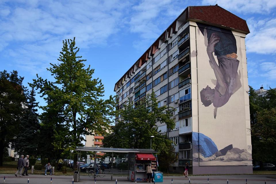 "Etam Cru - ""Icarus"" in Banja Luka, Bosnia & Herzegovina."