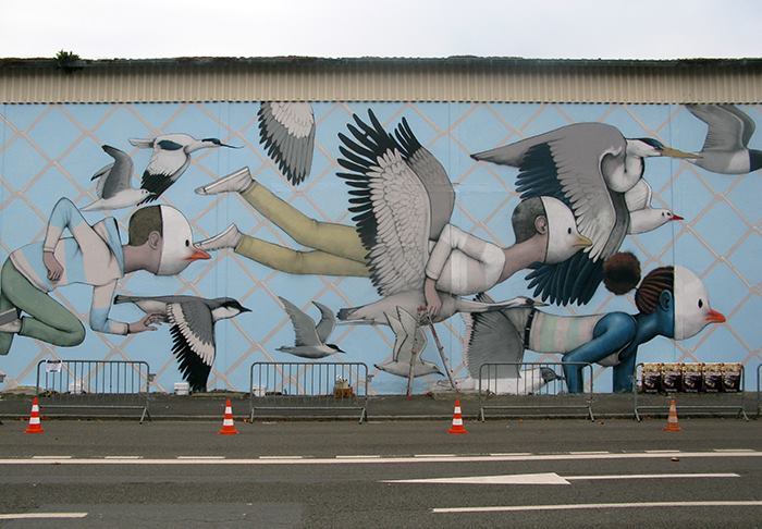 Part of  wall by Seth Globpainter in Saint Malo, France for Teenage Kicks 2015. Photo by Poch.