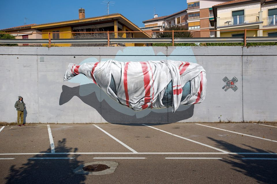 "Nevercrew - ""Signalling Machine"" in Varese, Italy for Urban Canvas."