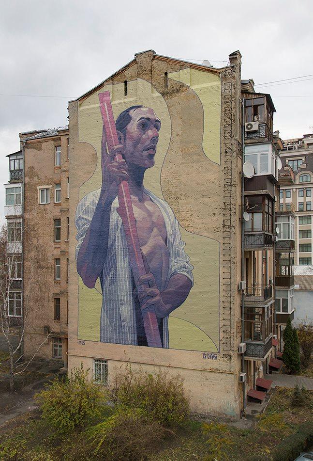 Aryz in Kiev, Ukraine.