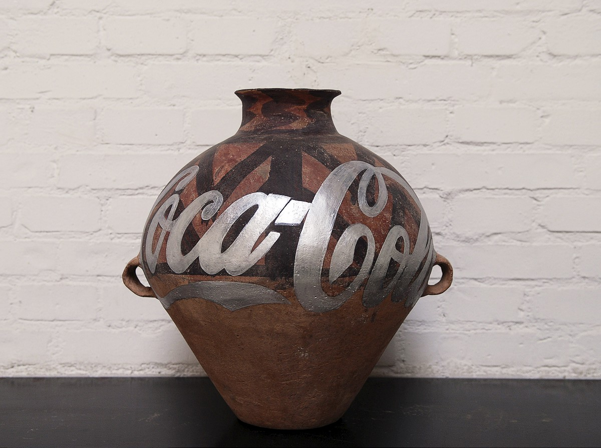 Ai WeiweiChinese 1957–Mao (Facing Forward)1986oil on canvas233.6 x 193.0 cmPrivate collectionImage courtesy Ai Weiwei Studio© Ai WeiweiEXHI037631Ai WeiweiChinese 1957–Neolithic Potterywith Coca Cola Logo 2007paint, Neolithic ceramic urn27.94 x 24.89 cmPrivate collectionImage courtesy Ai Weiwei Studio© Ai Weiwei EXHI037640