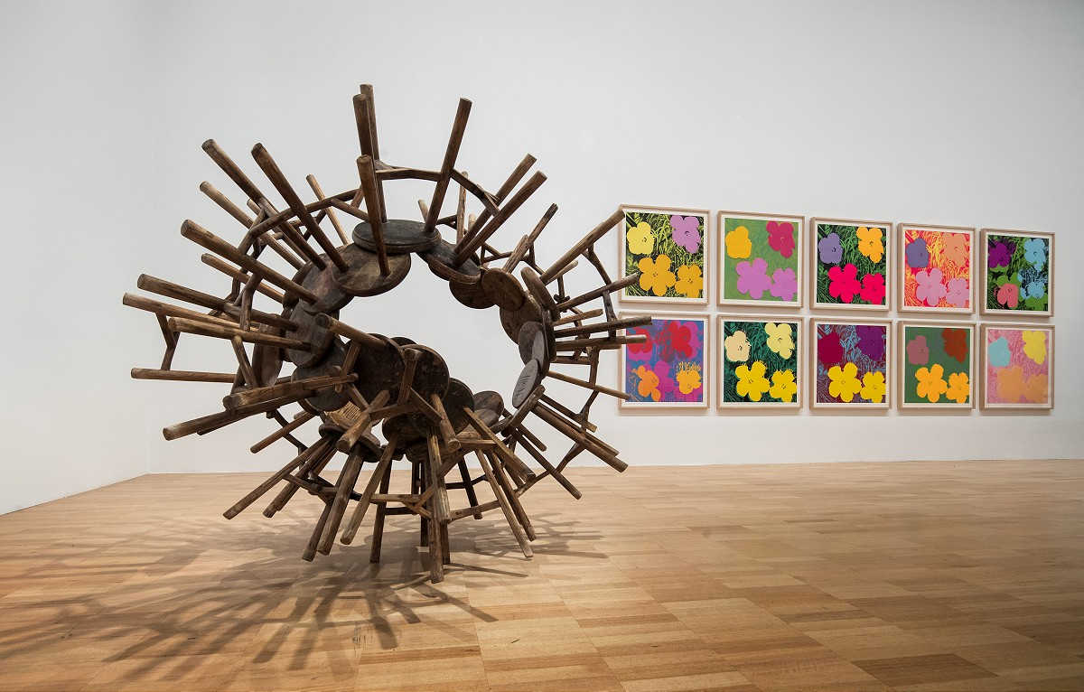 Ai Weiwei at National Gallery of Victoria exhibition Andy Warhol | Ai Weiwei, 11 December 2015 –24 April 2016.Ai Weiwei artwork © Ai Weiwei. Photo:John Gollings _DX_1672