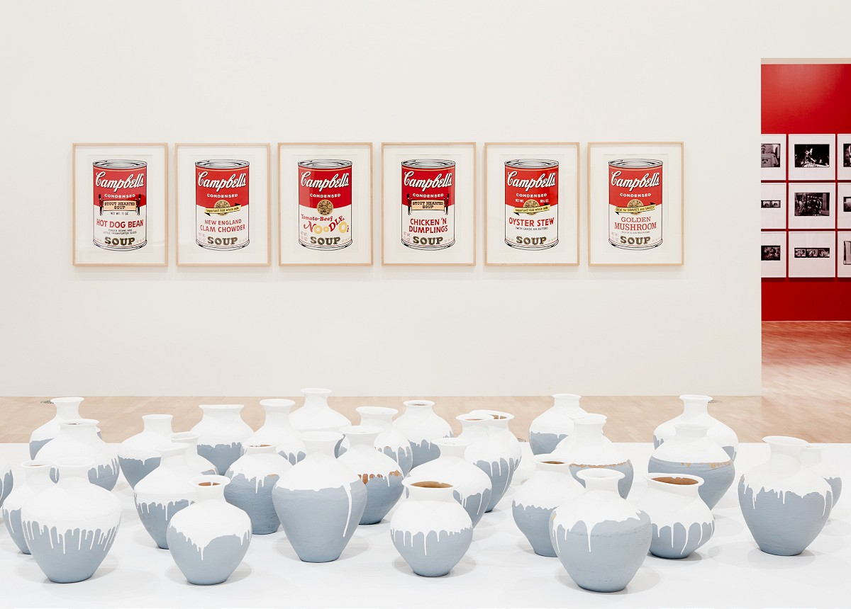Installation view of the Andy Warhol | Ai Weiwei exhibition at the National Gallery of Victoria, 11 December 2015 –24 April 2016. Andy Warhol artwork © 2015 The Andy Warhol Foundation for the Visual Arts, Inc./ARS, New York. Administered by Viscopy, Sydney. Photo:John Gollings 20151205_JG_1246