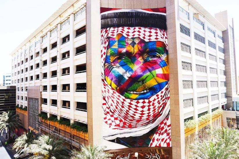 Eduardo Kobra in Dubai.