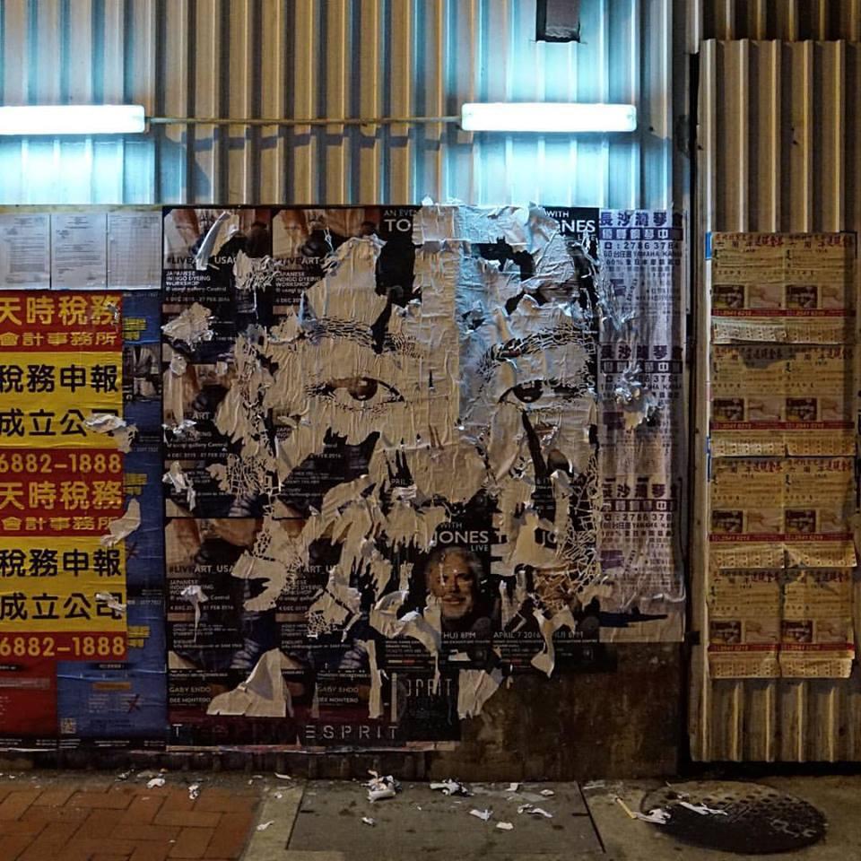 Vhils in Hong Kong.