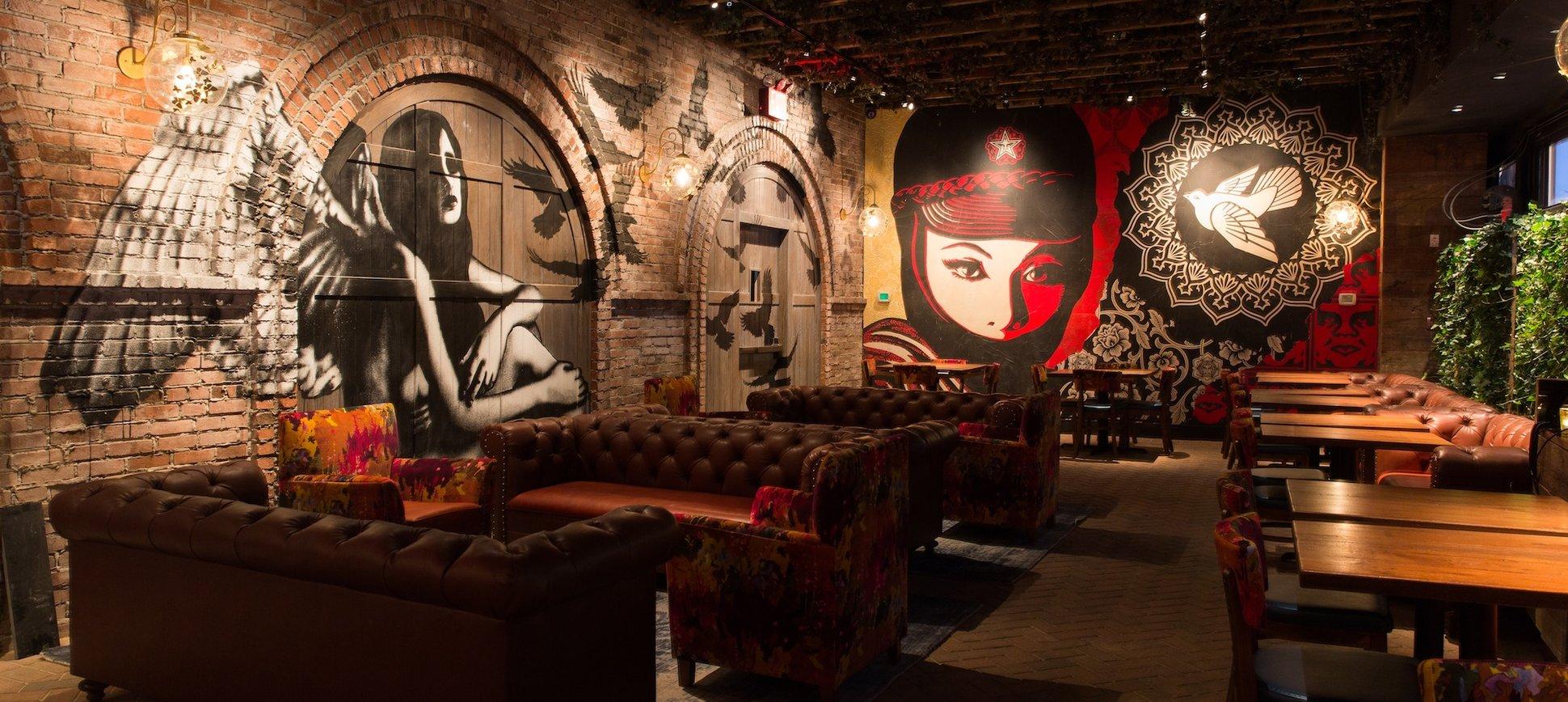 Hush curated decor for vandal restaurant new york