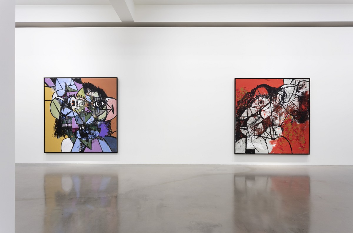 Installation view, George Condo, 'Entrance to the Void', Sprüth Magers, Los Angeles, April 20 - June 11, 2016. Photography: Joshua White, 2016
